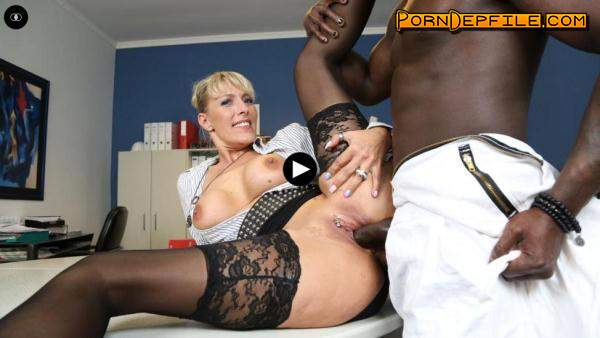 BumsBuero: Lana Vegas - Naughty German MILF secretary gets pleased in steamy interracial fuck (SD, Blowjob, Milf, Interracial) 480p