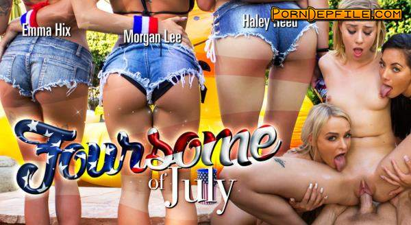 WankzVR: Emma Hix & Haley Reed & Morgan Lee - Foursome of July (VR) 1080p