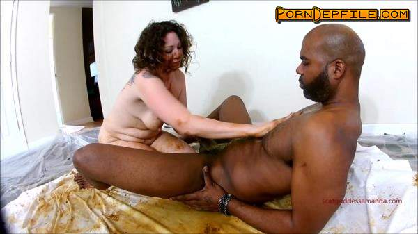 Scat Porn: Woman shitting on black dick and masturbates dirty pussy - Interracial (Scat) 1080p
