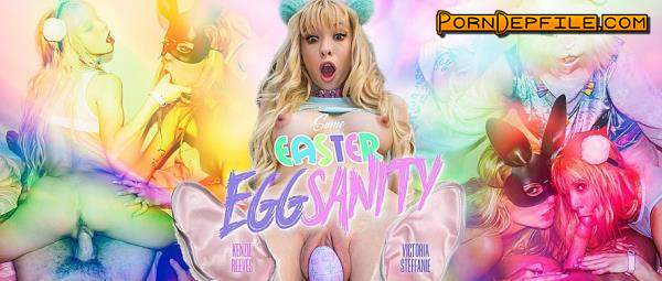 WankzVR: Kenzie Reeves, Victoria Steffanie - Some Easter Eggsanity (POV, Deep Throat, Threesome, VR) (Smartphone) 1080p