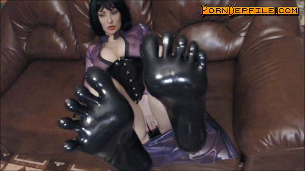 ManyVids: Princess18 - BJ and footjob in awesome latex socks (Big Tits, Fetish, Rubber, Latex) 720p