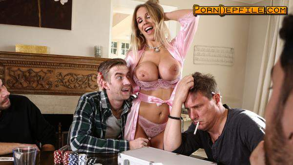 RealWifeStories, Brazzers: Rebecca More - Poker Face (Facial, Blonde, Big Tits, Milf) 480p