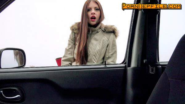 StrandedTeens, Mofos: Rebecca Volpetti - Hitchhiker Gives Blowjob In Car (SD, Hardcore, Deep Throat, Teen) 480p