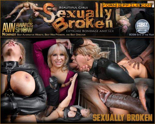 SexuallyBroken: Alyssa Lynn, Matt Williams, Jack Hammer - Big breasted Alyssa Lynn takes on two cocks while bound in a leather straightjacket! Busty blonde MILF BBC fucked in a straightjacket! (SD, Hardcore, BDSM, Bondage) 540p