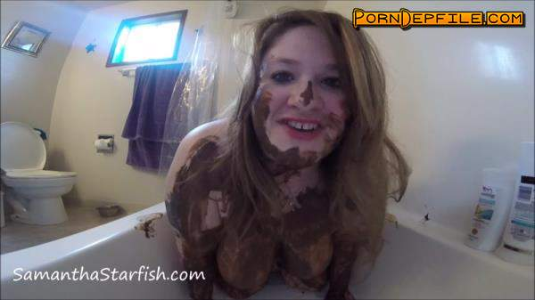 SamanthaStarfish: Samantha Starfish - Sexy Sensual Shitting and Smearing (Scat) 1080p