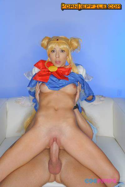 CosPimps: Kenzie Reeves - Sailor Moon Gets Creampied (Natural Tits, Creampie, Blonde, Teen) 480p