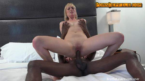 BrothaLovers: Kate England - And Big Black Cock (Deep Throat, Creampie, Blonde, Interracial) 480p