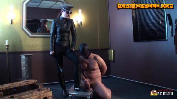 GermanMistresses: Sperm on leather boots (HD Porn, Germany, Fetish, Femdom) 720p