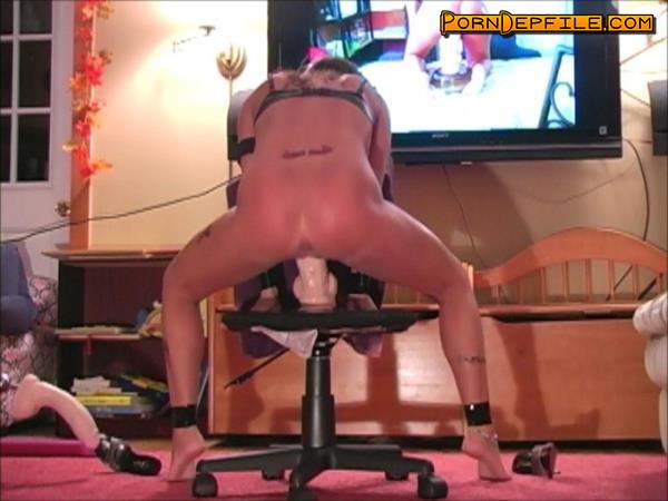 "DirtyWifeStyle: Dirty Wife - My husband makes me ride ""Mr Big"" on a chair and watch videos of myself (Brunette, Milf, Fetish, Fisting) 480p"