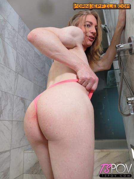 TsPov: Samantha Smiles - Shower BJ And Sex (POV, Anal, Transsexual, Shemale) 720p