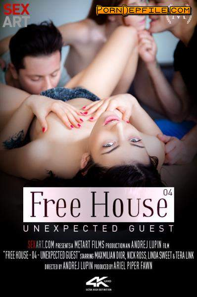 SexArt, MetArt: Linda Sweet, Tera Link - Free House Episode 4 - Unexpected Visit (Tattoo, Redhead, Brunette, Group Sex) 360p