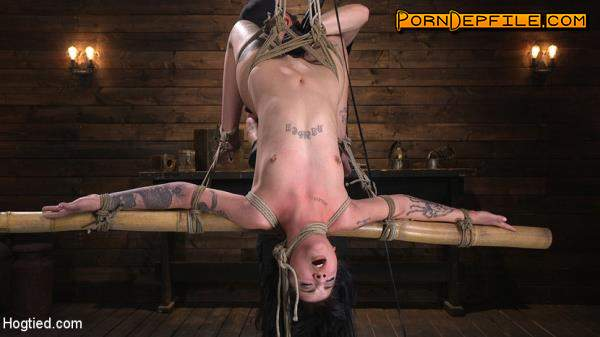 Hogtied, Kink: Charlotte Sartre - Submissive Goth Girl is Bound, Tormented, and Made to Cum (Masturbation, BDSM, Bondage, Humiliation) 720p