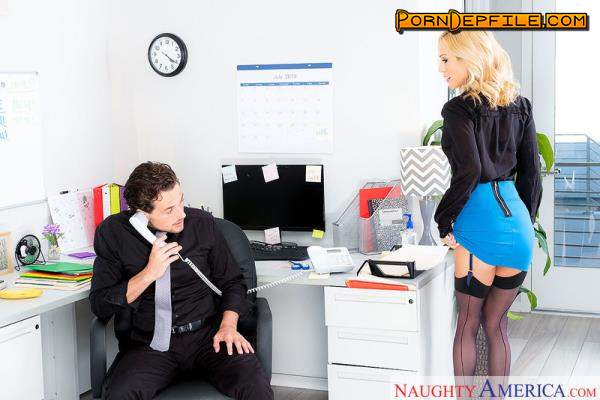 NaughtyOffice, NaughtyAmerica: Sarah Jessie - Sex in Office (Swallow, Facial, Blonde, Big Tits) 360p