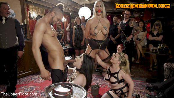 TheUpperFloor, Kink: Aiden Starr, London River, Amilia Onyx - The Anal Submissive MILF And The Big - Titted 19 Year Old (BDSM, Bondage, Spanking, Humiliation) 720p