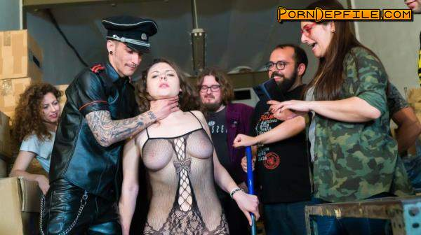 CROWDBONDAGE, PornDoePremium: Sofia Curly - BEAUTY AND THE BONDAGE BEAST (Group Sex, BDSM, Bondage, Humiliation) 720p
