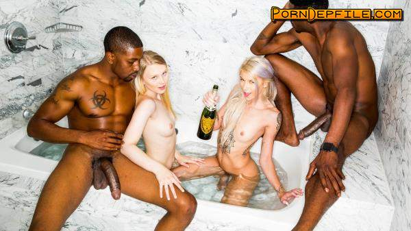 BlackedRaw: Lily Rader, Arya Fae - New Friends (Doggystyle, Facial, Blonde, Interracial) 480p