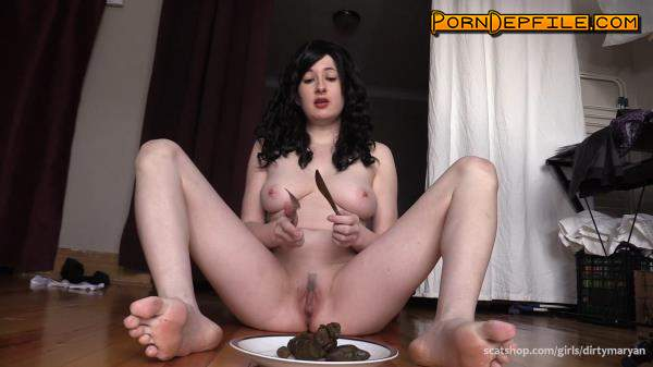 ScatShop: DirtyMaryan - Mistress feeds Toilet Slave with her delicious shit (Scat) 1080p