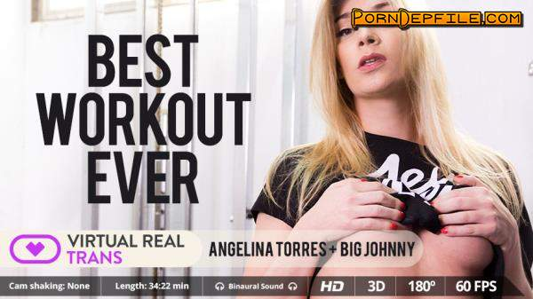 VirtualRealTrans: Angelina Torres - Best Workout Ever (SideBySide, Smartphone, Gear VR, Strapon) (Smartphone, Mobile, Gear VR) 1440p