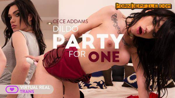 VirtualRealTrans: Cece Addams - Dildo Party For One (VR, Shemale, SideBySide, Smartphone) (Smartphone, Mobile) 1080p