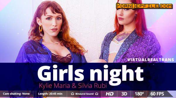 VirtualRealTrans: Kylie Maria, Silvia Rubi - Girls Night (Shemale, SideBySide, Smartphone, Gear VR) (Smartphone, Mobile, Gear VR) 1440p