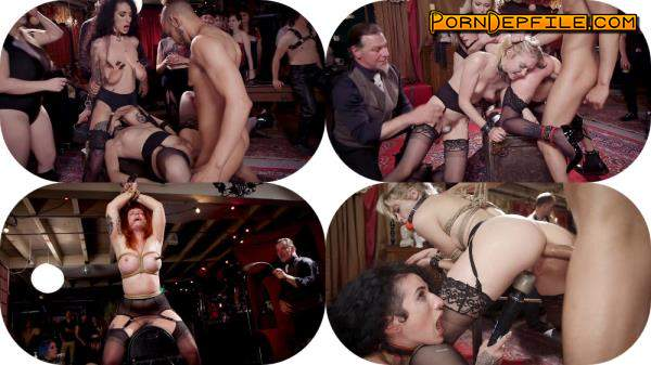 TheUpperFloor, Kink: Aiden Starr, Donny Sins, Arabelle Raphael, Chloe Cherry - Teen Anal Slut Turned Out For Service at BDSM Swinger Soiree (Anal, Threesome, BDSM, Bondage) 540p