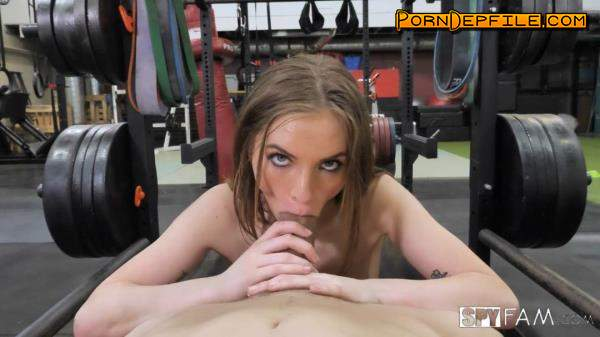 SpyFam: Summer Brooks - Stepsister Rides Stepbro's Dick At Gym (Facial, Small Tits, Blonde, Teen) 1080p