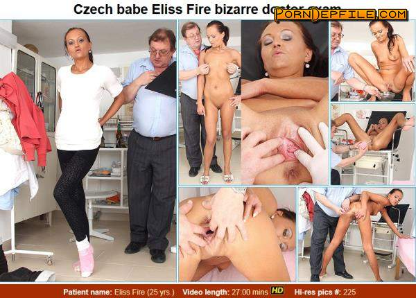 ExclusiveClub, FreakyDoctor: Eliss Fire - 25 years girls gyno exam (HD Porn, Brunette, Pissing, Fetish) 720p