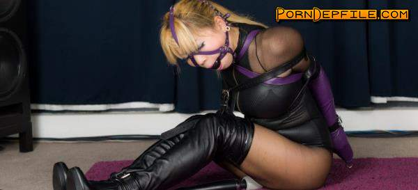 RestrictedSenses, clips4sale: Mina - Purple Leather Armbinder and Gag (HD Porn, FullHD, BDSM, Bondage) 1080p