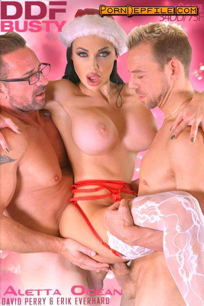 DDFBusty, DDFNetwork: Aletta Ocean - Curvy & Delicious - Double Penetrated on Xmas) XXXmas Cramming - Pussy And Asshole Filled With Cocks (Deep Throat, Anilingus, Big Tits, Anal) 360p