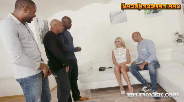 Private: VICTORIA PURE - Horny Blonde Takes on Four Black Stallions (SD, Interracial, Anal) 400p