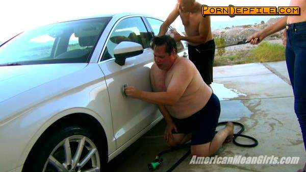 AmericanMeanGirls: Alpha Wants His Car Cleaned (HD Porn, FullHD, Fetish, Femdom) 1080p