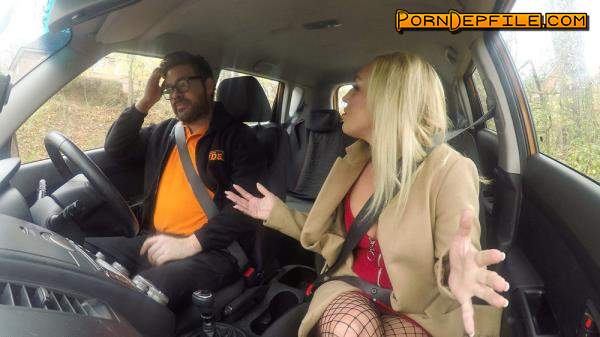 FakeDrivingSchool: Amber Deen - Jealous twin loves a good facial (Natural Tits, Facial, Blonde, Hairy) 480p