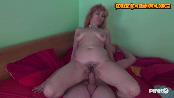 PinkoClub: Larisa - Fucked By A Hard Young Bird (Small Tits, Hairy, Milf, Anal) 720p
