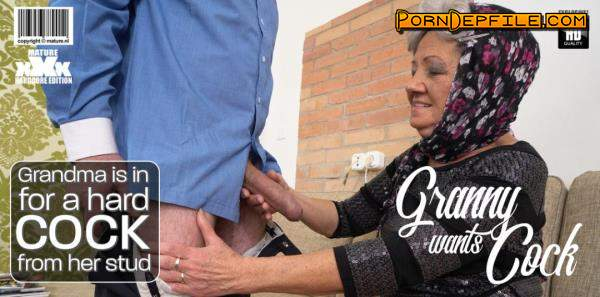 Mature.nl: Hanna D. (72) - Grandma is in for a hard cock from her stud (Hardcore, Oral, Granny, Mature) 540p
