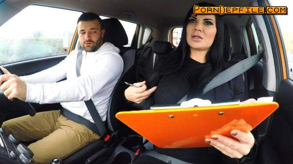 FakeDrivingSchool: Jasmine Jae - Lad Distracted by Pussy on Test (Doggystyle, Handjob, POV, Big Tits) 720p