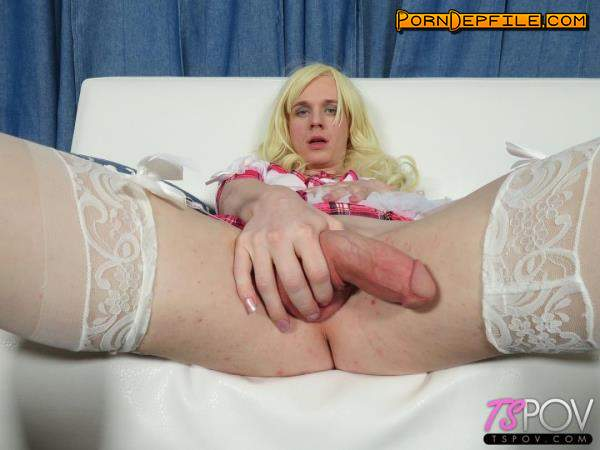 TsPov: Taylah Zane - Young Blonde TS Loves Cock So Much (Blowjob, POV, Transsexual, Shemale) 720p