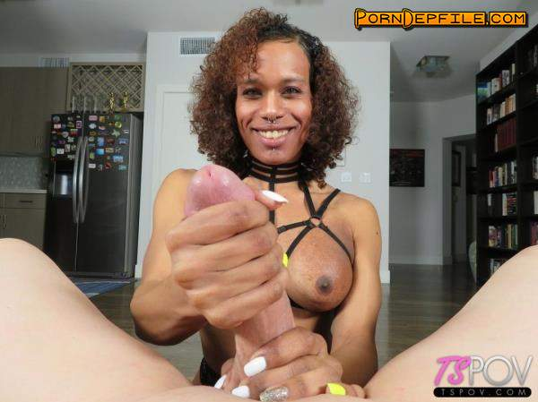 TsPov: Pink Ivy - Exotic Trans Latina Gets Glazed (Blowjob, POV, Transsexual, Shemale) 1080p