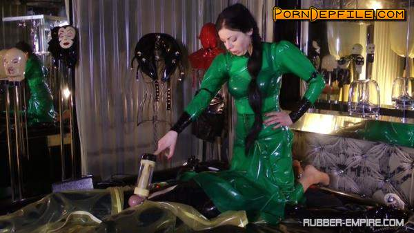 Rubber-Empire: Lady Ashley - Machined Extracted And Looked Up Again (HD Porn, Fetish, Rubber, Femdom) 720p
