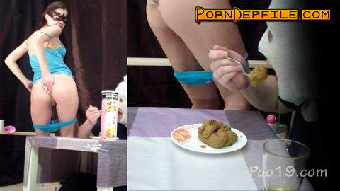 Poo19: MilanaSmelly - Light and pleasant taste and smell. Gourmet breakfast for the slave (Scat) 1080p