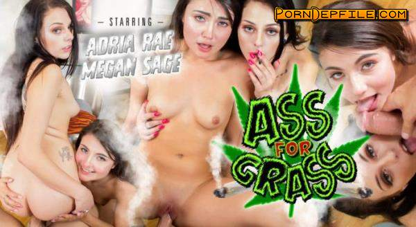 WankzVR: Adria Rae, Megan Sage - Ass For Grass (Threesome, VR, SideBySide, Smartphone) (Smartphone, Mobile) 960p