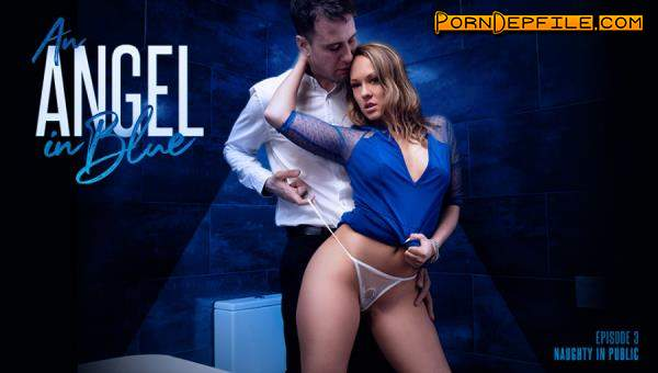 AssHoleFever, 21Sextury: Blue Angel - An Angel In Blue: Naughty In Public (Natural Tits, Cumshot, Brunette, Anal) 720p