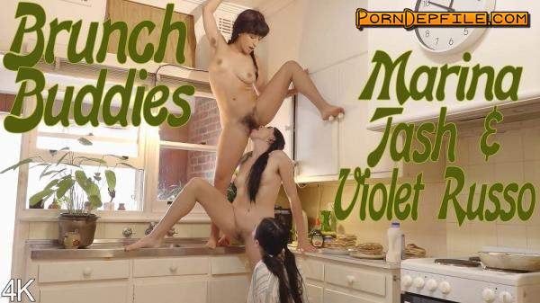 GirlsOutWest: Marina, Tash, Violet Russo - Marina, Tash & Violet Russo Brunch Buddies (FullHD, Hairy, Lesbian, Threesome) 1080p