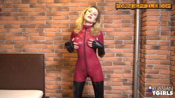 Russian-TGirls: Lisa Romanova - Lisa Reaches An Orgasmic Climax! (Transsexual, Fetish, Latex, Shemale) 720p