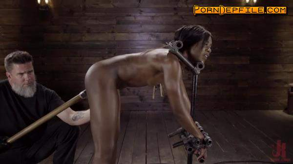 DeviceBondage, Kink: Ana Foxxx - Sexy Slut Ana Foxxx Tormented in Steel Devices (Ebony, Masturbation, BDSM, Bondage) 540p