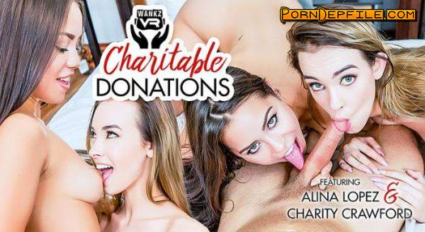WankzVR: Alina Lopez, Charity Crawford - Charitable Donations (Facesitting, SideBySide, Oculus, Gear VR) (Oculus Rift, Vive, GO, Samsung Gear VR) 1920p