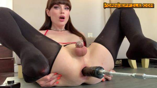 M@nyVids: Natalie Mars - Fuck Machine Frenzy (Solo, Transsexual, Pissing, Shemale) 1080p