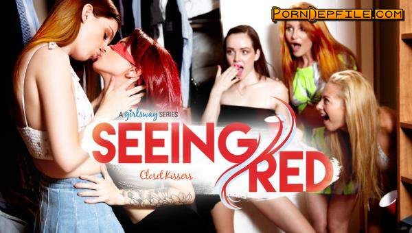 GirlsWay: Maya Kendrick, Lacy Lennon, Lola Fae - Seeing Red: Closet Kissers (Teen, Lesbian, Threesome, Incest) 1080p