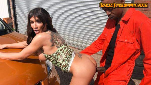 FakeHub, FakeDrivingSchool: Princess Jasmine - The Big Black Manual Cock (Deep Throat, Brunette, Big Tits, Interracial) 480p