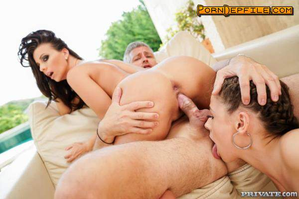 TightAndTeen, Private: Afrodita, Vicky Love - Debutants Share A Stallion (Brunette, Hairy, Teen, Threesome) 720p