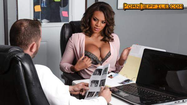 BrazzersExxtra, Brazzers: Halle Hayes - Working Late (Hardcore, Ebony, Big Tits, Teen) 400p